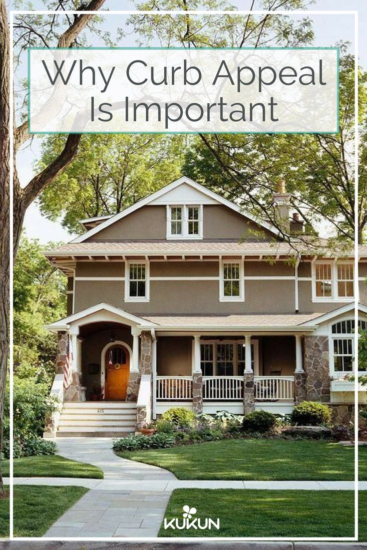 There are numerous ways to increase the price of your house, but focusing on curb appeal might make more sense than the rest, so here's what that really is and what you can do to improve it. [Curb Appeal, Increasing Curb Appeal, ROI, Return On Investment, House Selling Tips, Porches And Facades, Curved Sidewalk, Colonial Style House] #sellinghousetips