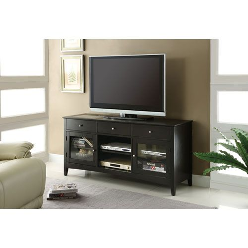 Dark Cappuccino TV Console with Connect-It Power Drawer