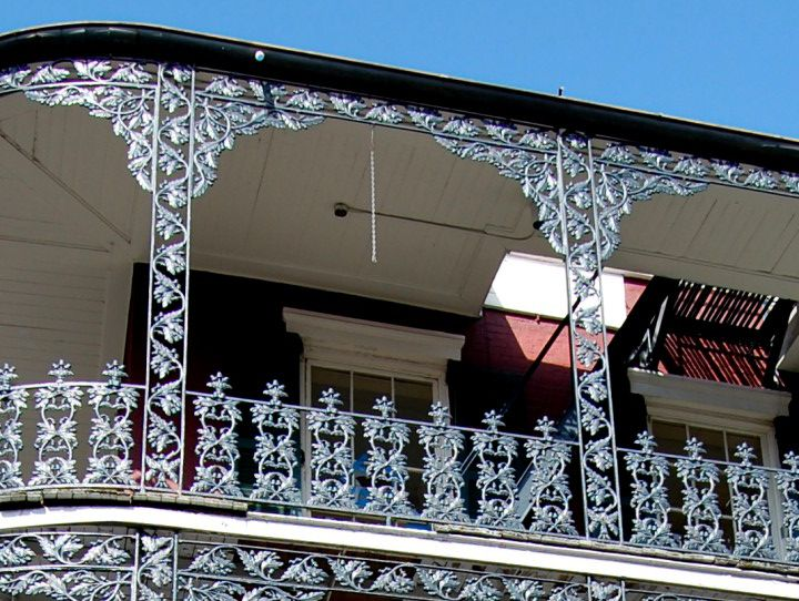 I Love This New Orleans Wrought Iron Balcony Design So