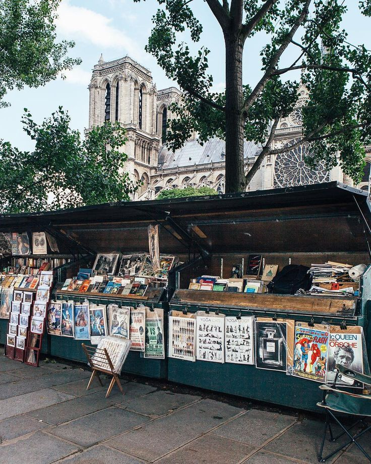 Walking along the Seine in Paris. I loved these street vendors