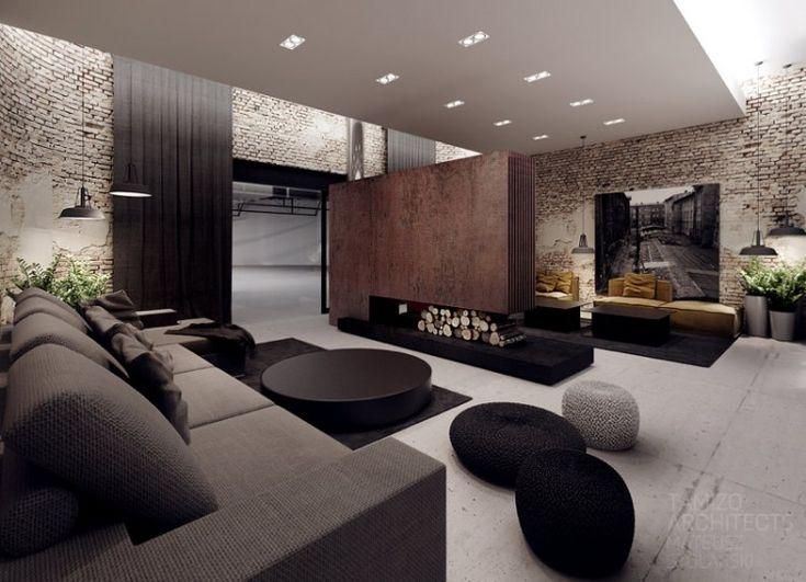 1000 id es sur le th me salons minimalistes sur pinterest for Architecture interieure contemporaine