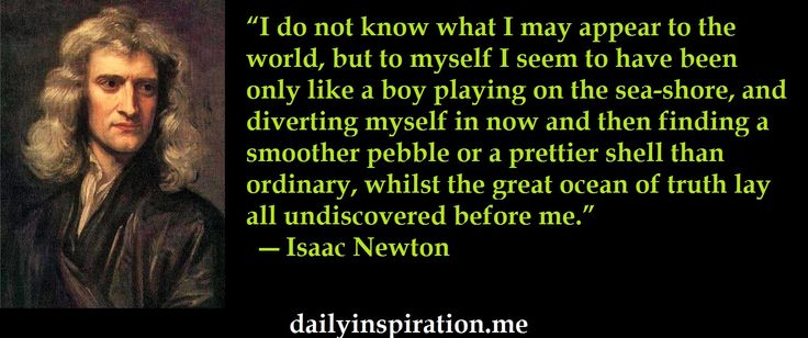 Isaac Newton quote on himself