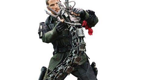 Terminator Salvation: John Connor Final Battle Version 1/6th Scale Figure with Hydrobot (Christian Bale)