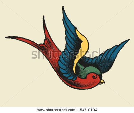 Traditional Swallow Bird Tattoo Like