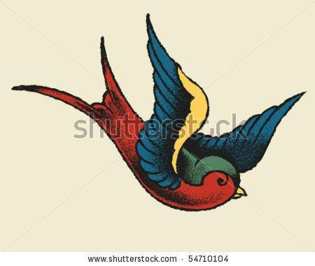 Tattoo Style Swallow by Tairy Greene, via ShutterStock
