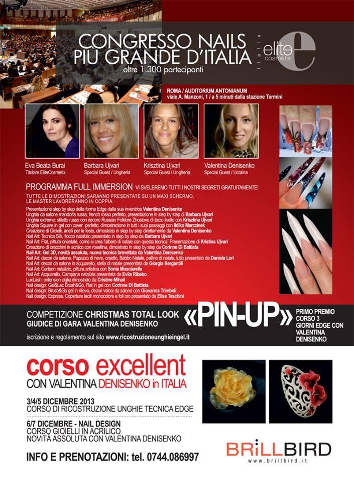 1 Dicembre - Meeting natalizio gratuito a Roma - Congresso Nazionale Nails -www.ricostruzioneunghieingel.it