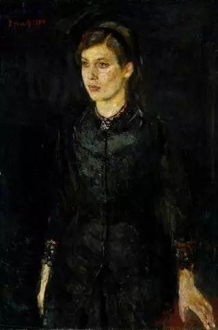 Edvard-Munch-Inger-Munch-i-svart-1884