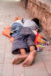 This should never be! Homelessness!