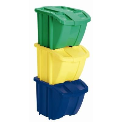 home depot recycling suncast recycle bin set 3 bh183k at the home depot 30625