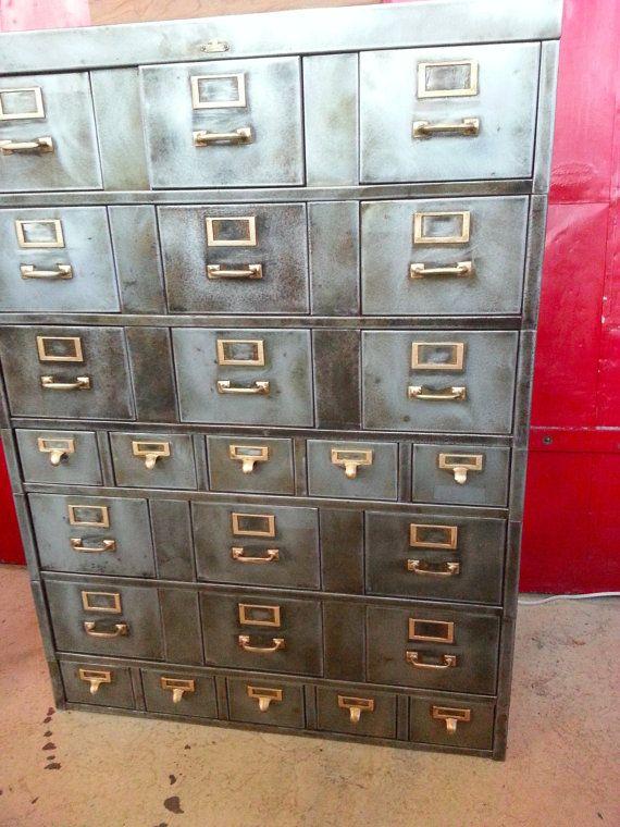 Vintage Industrial Steel Storage Cabinet Steel Storage Cabinets Storage Storage Cabinet
