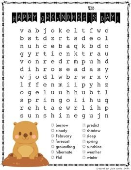 FUN word search that will keep your kiddos busy on Groundhog's Day :)  Follow Me so you can grab my flash freebies! (Click the star near The Techie Teacher icon)  You can also follow me on: FACEBOOK My Techie Teacher Blog