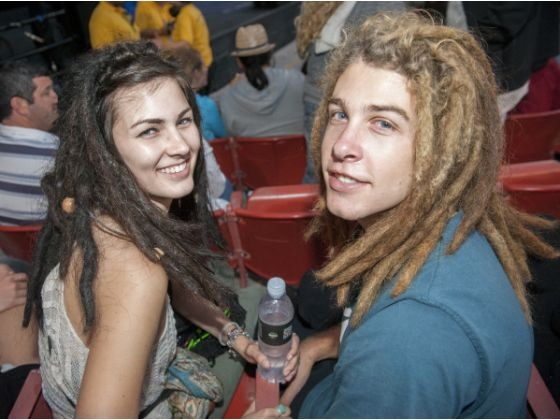 Matisyahu fans get ready for the show Sunday night at Pacific Amphitheatre in Costa Mesa.: Matisyahu Fans, Sunday Night, Costa Mesa, Pacific Amphitheatre
