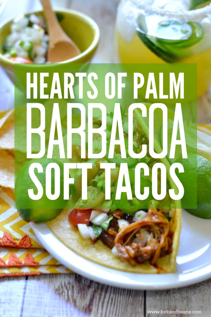 Shredded Hearts of Palm Barbacoa Soft Tacos (vegan) - Fork & Beans