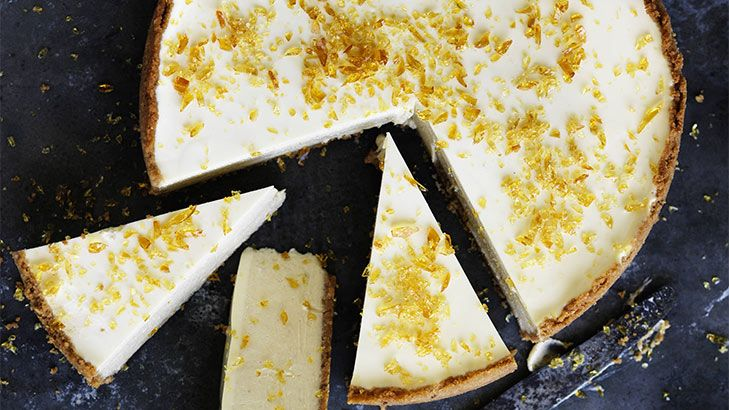 Sensational: banana cheesecake with toffee shards.
