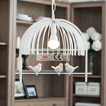 Luxury Iron retro woonkamer verlichting slaapkamer hanglamp e led lampen vogel creatieve kinderen kroonluchter Ac