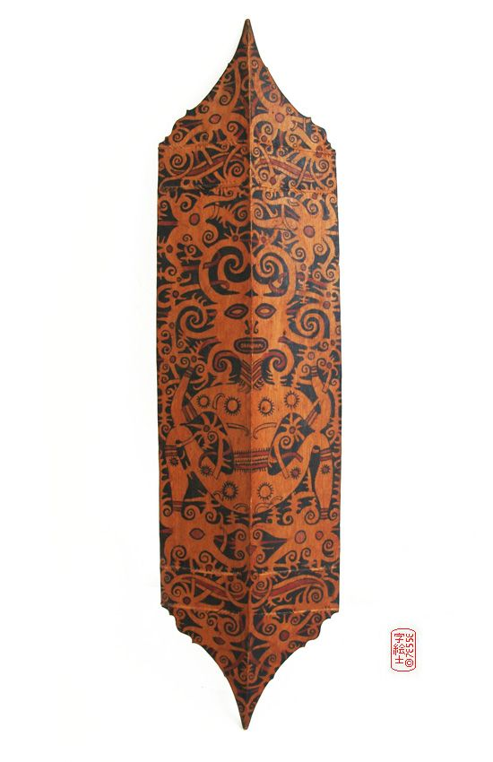 Dayak shield  Origin: Indonesia, Borneo, Kalimantan  Circa: 1900-1915  #indonesia #dayak #tribal