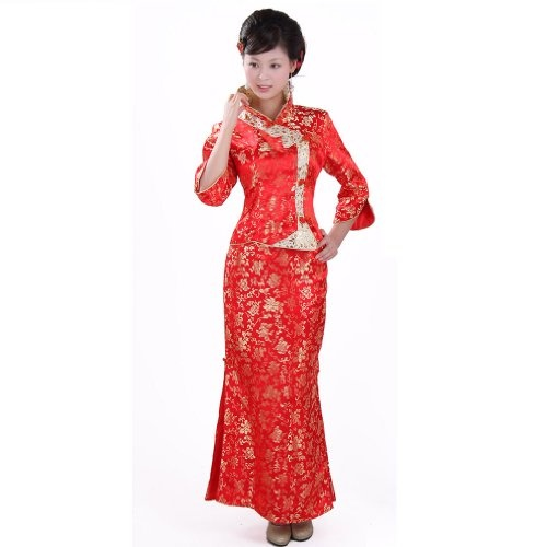 Buluos New Type Two-piece Traditional Chinese « Dress Adds Everyday