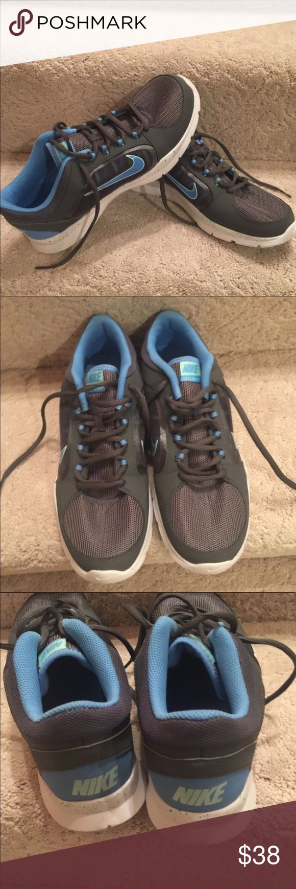 NWO Nike Trainers NWOB Nike Trainers. Blue & Gray Size 10. Reposhing because they do not fit. ☹️ Only Trying To Recoup Cost & 1/2 Of Shipping Fee. Price Firm Unless Bundled! Nike Shoes Athletic Shoes