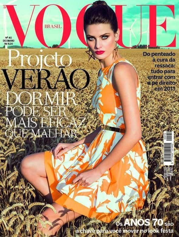 Beautiful Brunette Brazilian Model Isabeli Fontana Modeling For The Cover Of Vogue Brasil (Vogue Brazil) Magazine And Vogue Brasil Fashion Editorials Photographed By Vogue Photographer Jacques Dequeker. Brazilian models, beautiful models, sexy models, exotic models, Latin American models, modeling agencies for Vogue models.