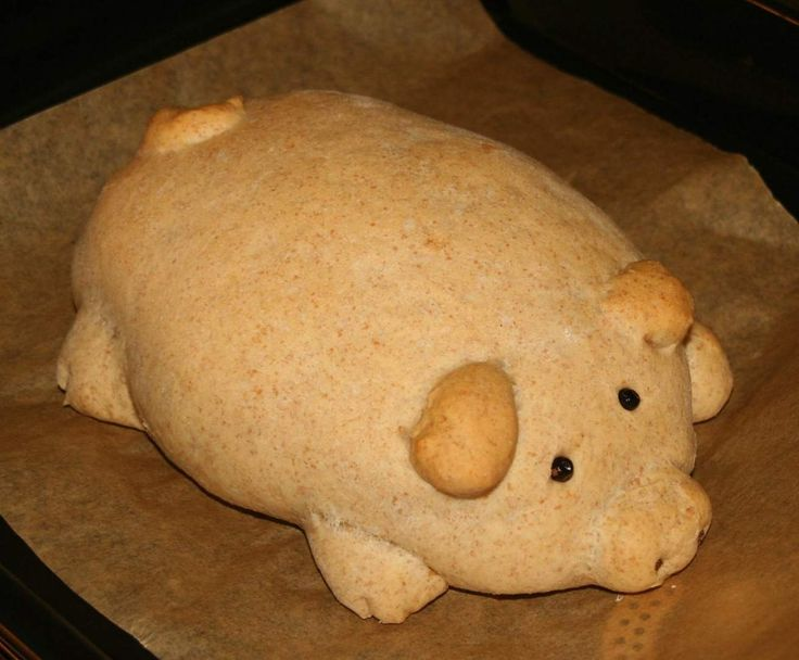 Rezept Glücksschwein von Maupi - Rezept der Kategorie Brot & Brötchen