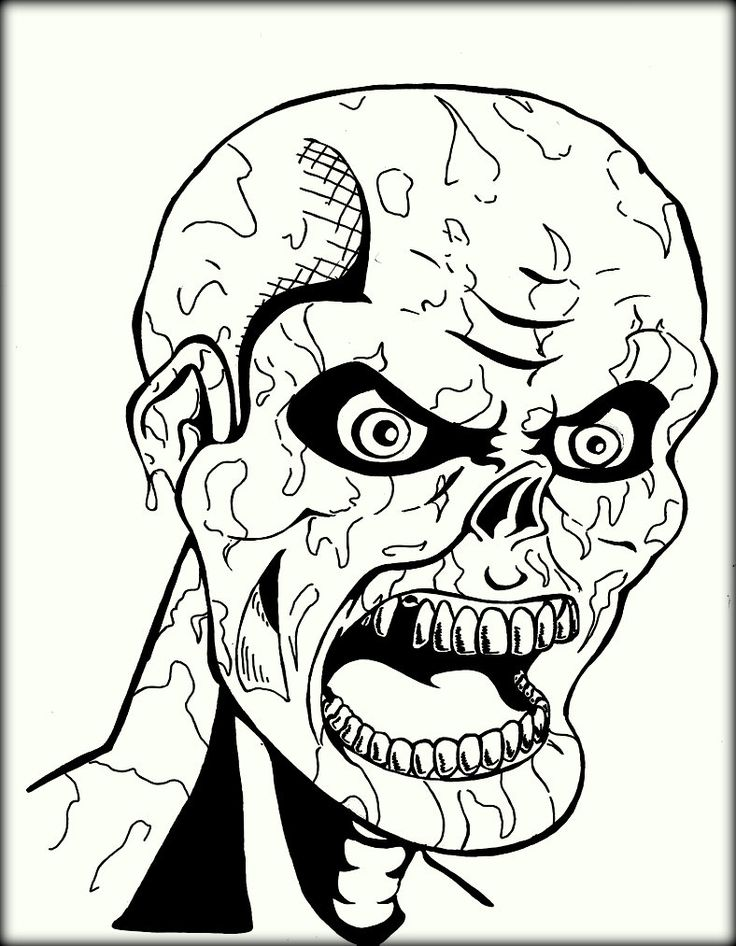 Free Printable Scary Coloring Pages For Adults | Scary ...
