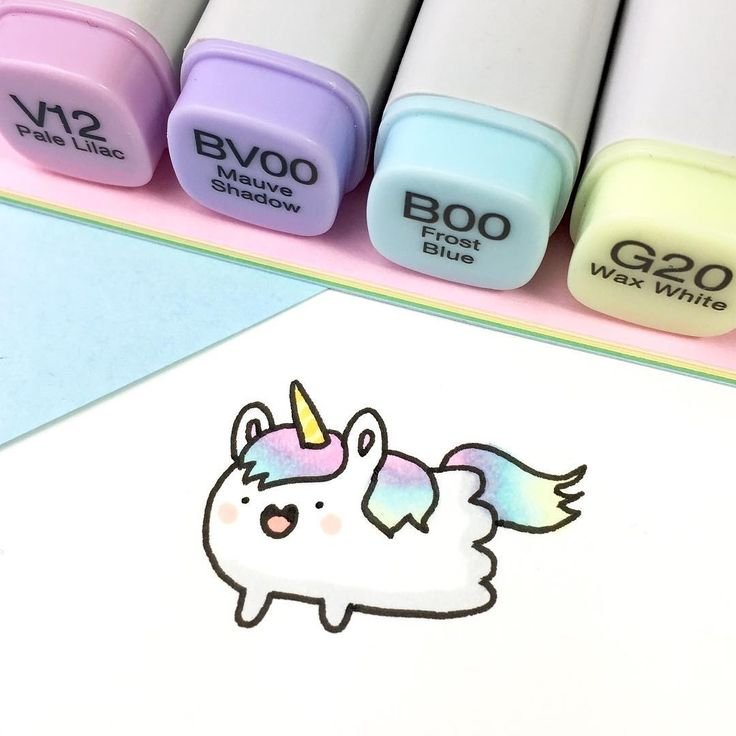 Cute Copic Marker Unicorn with Copic Colors: See Instagram photos and videos from ⭐️KiraKiraDoodles (@kirakiradoodles)