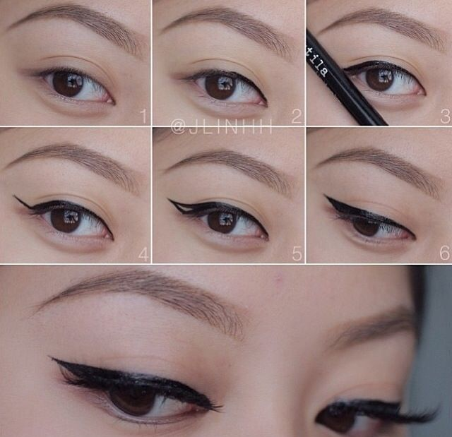 Makeup tutorial step by step: how to apply eyeliner - very ...