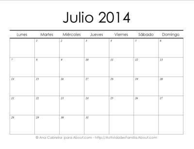 http://actividadesfamilia.about.com/od/Calendarios/ss/Calendarios_2014_imprimir_simple_7.htm