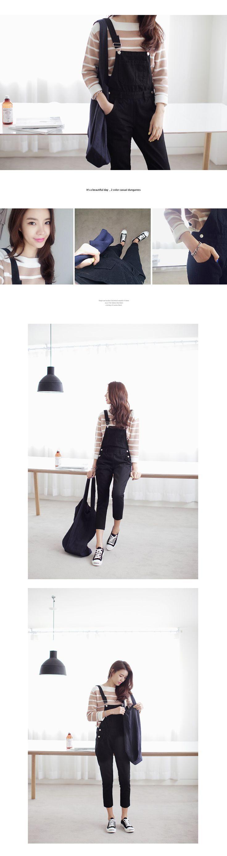 4563モノトーンデニムサロペット・全2色パンツ・ズボンパンツ・ズボン|レディースファッション通販 DHOLICディーホリック [ファストファッション 水着 ワンピース]