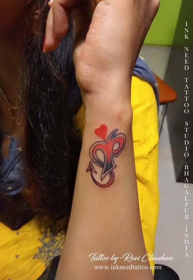 46f51853bfda2 letter with heart tattoo, heart tattoo,letter tattoo, alphabet letter tattoo,  alphabet with heart tattoo, alphabet tattoo, ink need tattoo,ravi chauhan