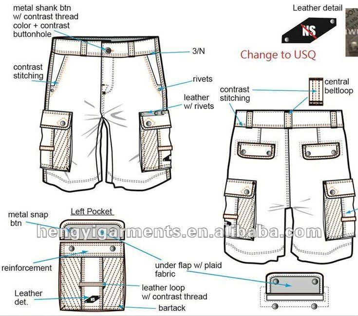 Multi - bolsos cargo short