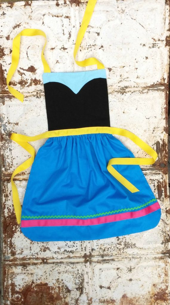 ANNA princess of Frozen. Sewing PATTERN. Disney inspired Child Costume Apron. Dress up. Play. Photo shoot Fits 2t, 3t, 4, 5, 6, 7, 8. Girls....