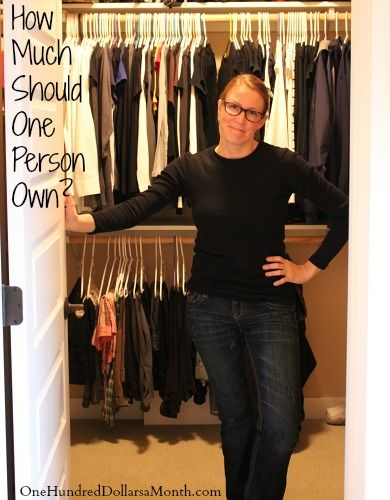 Minimalizing Clothing: How Much Should One Person Own?