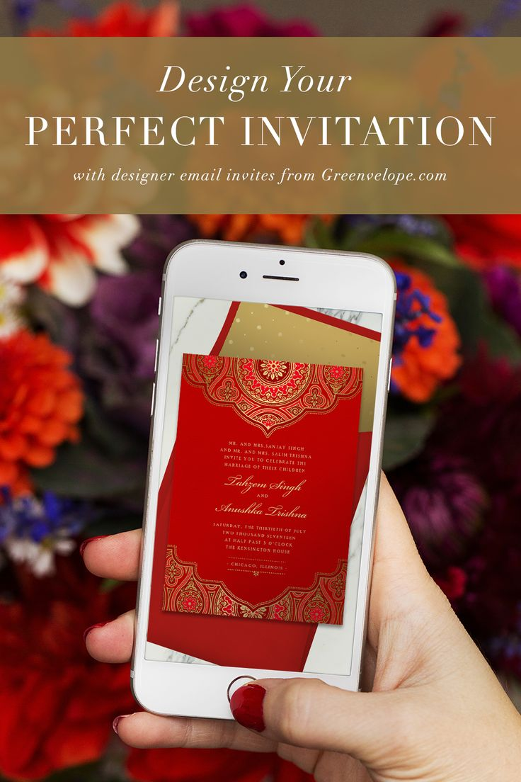 Select one of our 3000+ designer invitation templates, customize to fit your style, then effortlessly send, track, and gather RSVPs all in one place. Elegance made easy with digital invitations and RSVP tracking from Greenvelope.com.