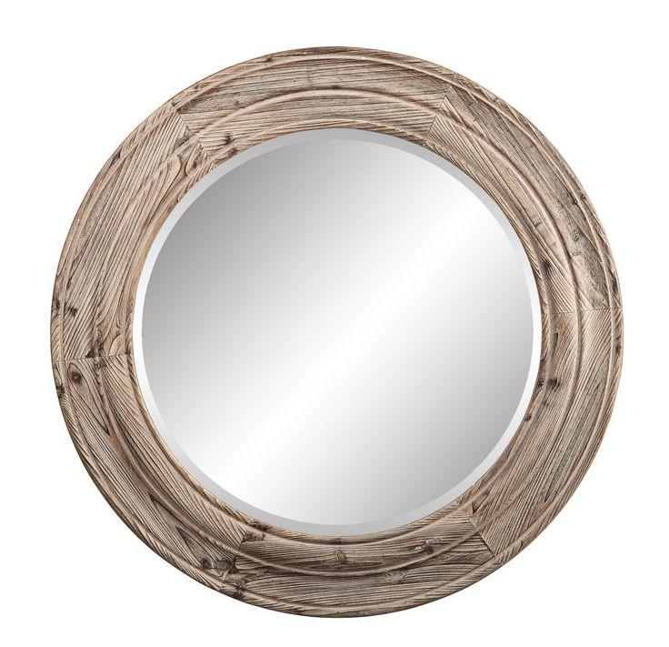 36 Inch Round Mirror Part - 40: Springfield Mirror, Natural