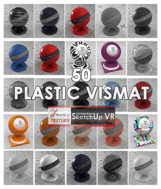 SKETCHUP TEXTURE: PLASTIC VISMAT VRAY FOR SKETCHUP