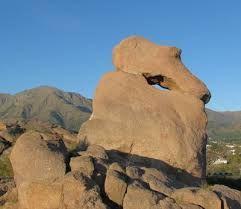 Capilla del Monte, Cordoba ,Argentina   el Zapato, t. the shoe ,a rock formation