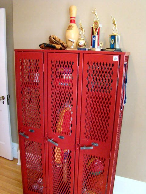 Old lockers....perfect for boys rooms!