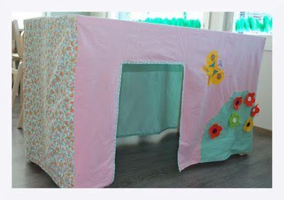 Pöytämaja, play tent