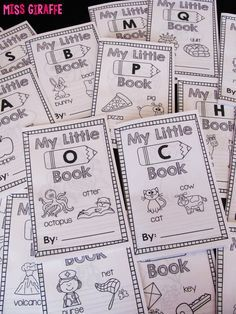 Alphabet letters books that are so cute and engaging for every letter of the alphabet! Each book has 10 words (each with its own page) that start with that letter with a big picture to color and lines to write the letter, the word, or a sentence for it so