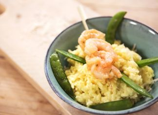 Lekker! Maak zelf romige risotto met garnalen