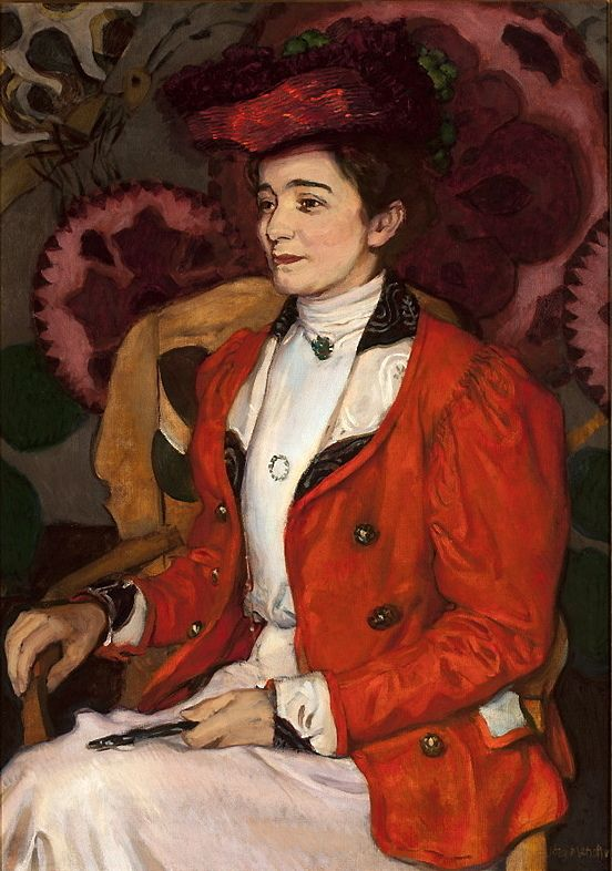 """The Portrait of Iza Axentowicz"" (1907) by Józef Mehoffer (Polish,1868-1946),  oil on canvas, 95 x 68, National Museum, Warsaw."