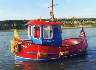 Mini Tugboat Plans, Wooden Boat Plans, Tugboats, Boat Building for the Home Builder