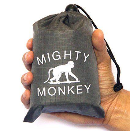 Mighty Mono portátil compacto bolsillo playa Picnic manta. Resistente al agua & Sandproof Mat. Ideal para Camping, playa, Picnics, viajes, senderismo y al aire libre