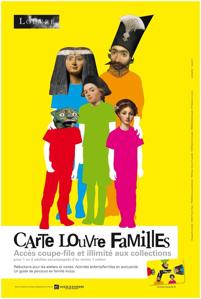 Campagne Carte famille pour Le Louvre réalisé par CSUPER!