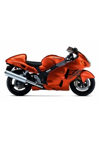 Orange Motorcycle Suzuki Hayabusa GSX 1300 R