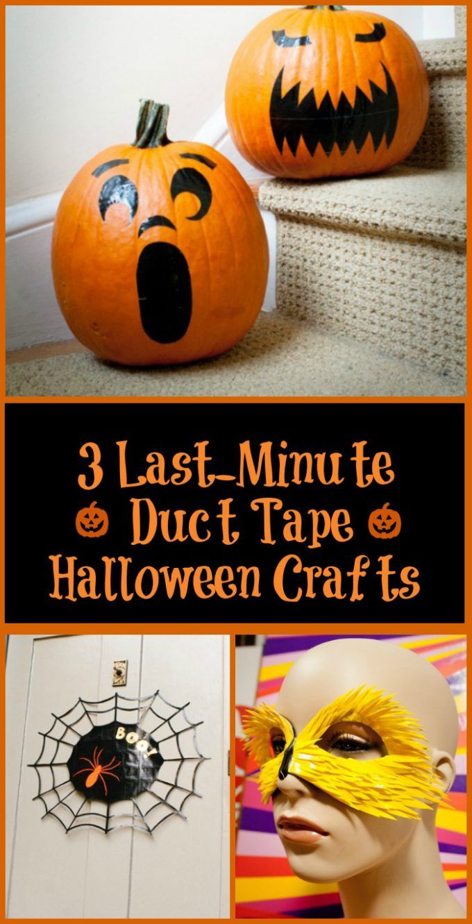 diy halloween duct tape crafts make your own halloween decor masks and faux carved