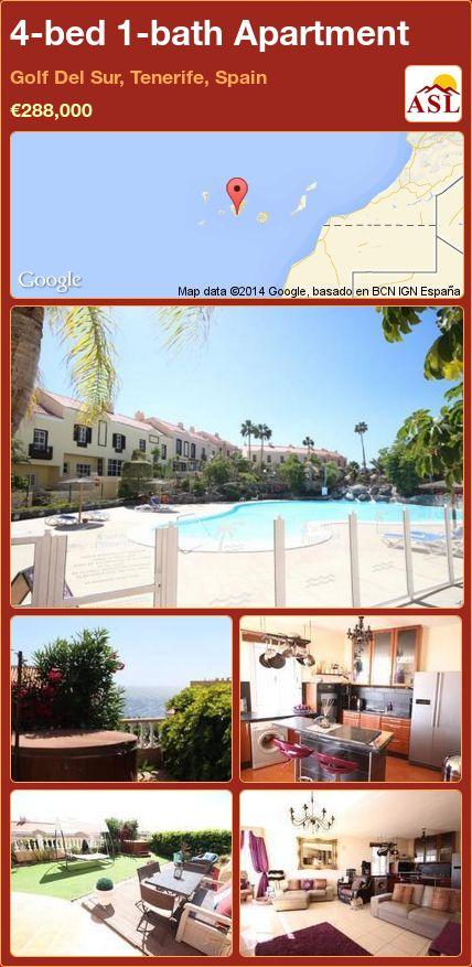 4-bed 1-bath Apartment in Golf Del Sur, Tenerife, Spain ►€288,000 #PropertyForSaleInSpain