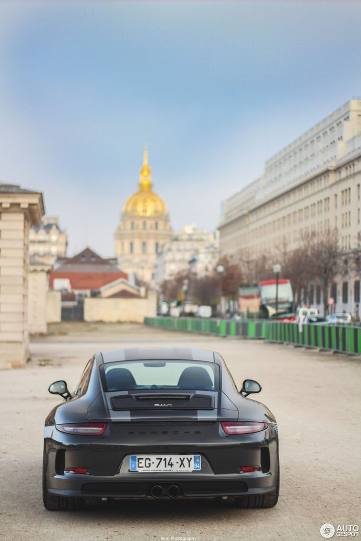 Red car with flames of fire hdr creme - Dark Porsche 911 R Spotted In Paris