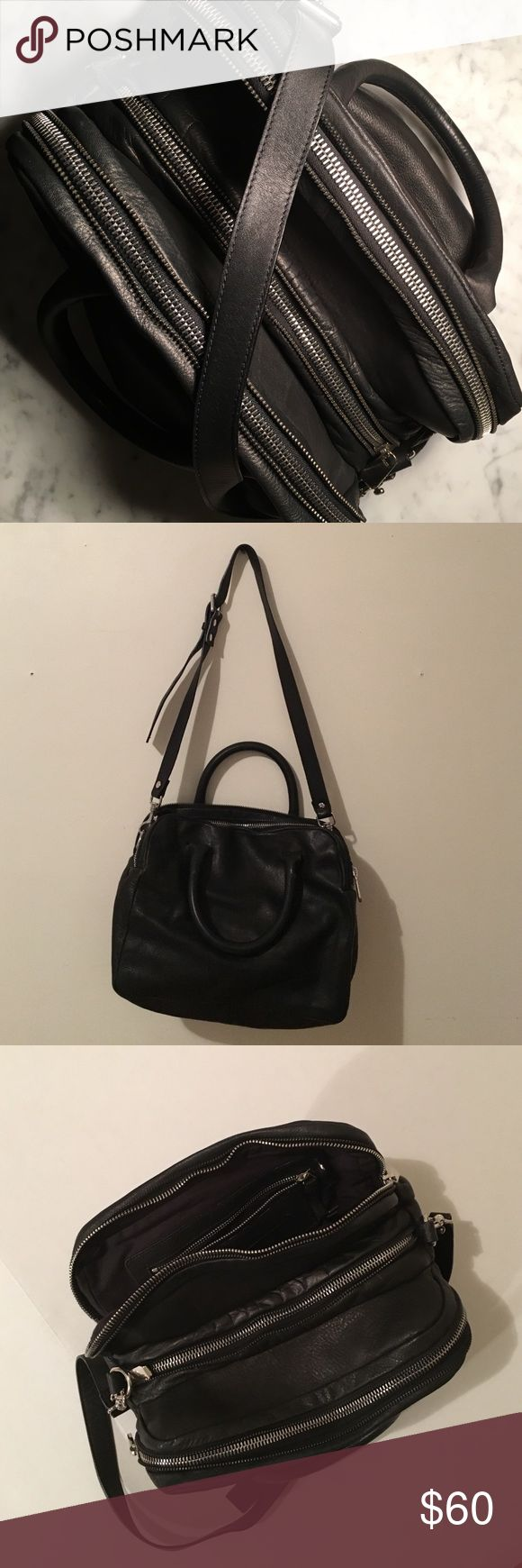 & Other Stories - Real Leather Bag This bag has 3 big pockets, all individual zippers. Attachable shoulder strap. Black with silver detail. Only used a couple of times. The leather is super soft. Perfect everyday bag! & Other Stories  Bags Totes